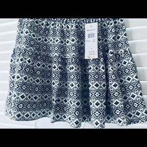 ROXY Black and White Printed Knit Skirt NWT